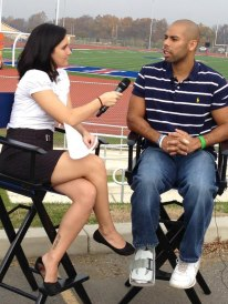 SUTV Sports reporter, Stephanie DeCarolis, interviewed Corey Hunt about theupcoming football game.