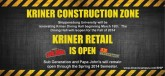 Kriner goes under construction