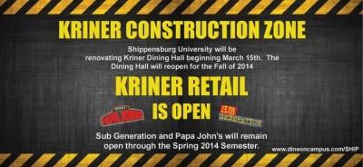 Kriner goes under construction